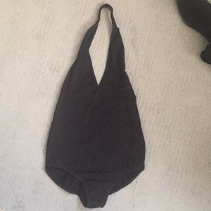 Low back, black, America apparel bodysuit!